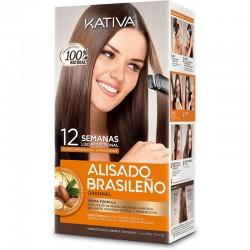 ALISADO BRASILEÑO KERATINA KATIVA CABELLOS NATURALES